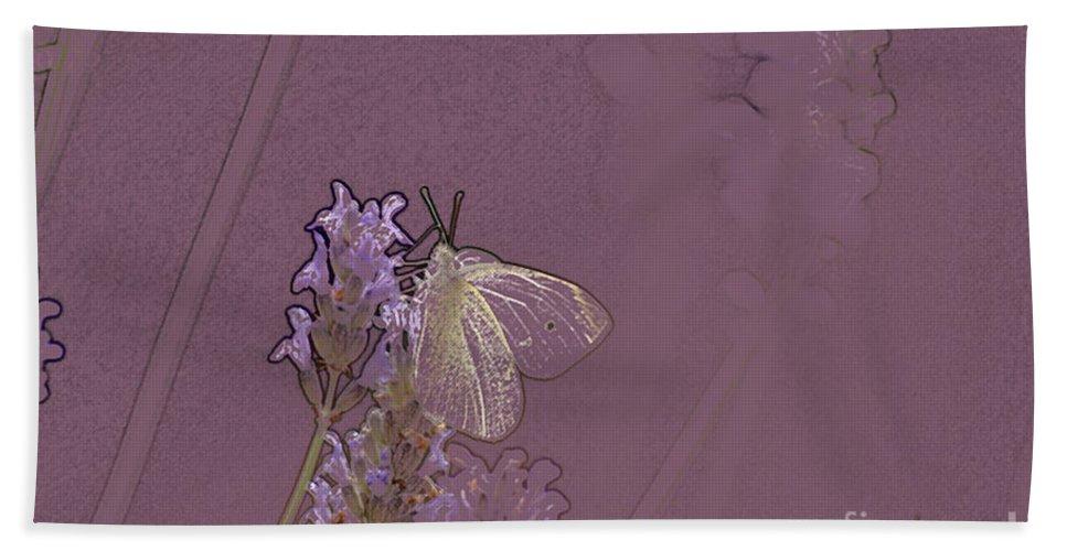 Butterfly Beach Towel featuring the digital art Butterfly 1 by Carol Lynch