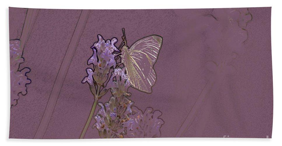 Butterfly Beach Towel featuring the digital art Butterfly 2 by Carol Lynch
