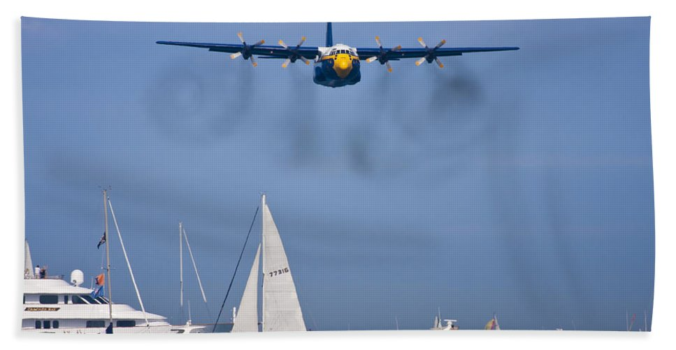 3scape Photos Beach Towel featuring the photograph Buzzing The Crowd by Adam Romanowicz