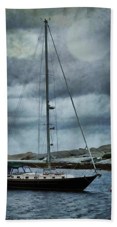 Sailboat Beach Towel featuring the photograph By The Light by Nikolyn McDonald