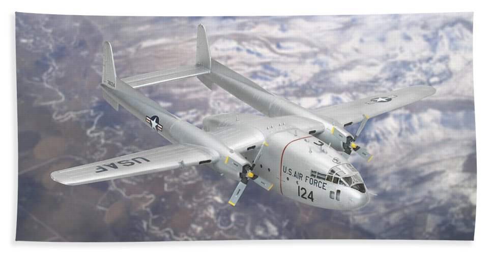 C-119 Flying Boxcar Beach Towel featuring the photograph C-119 Flying Boxcar by Robert Mollett