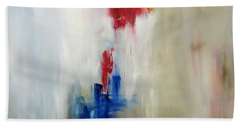 Abstract Painting Beach Sheet featuring the painting C-15 by Jeff Barrett