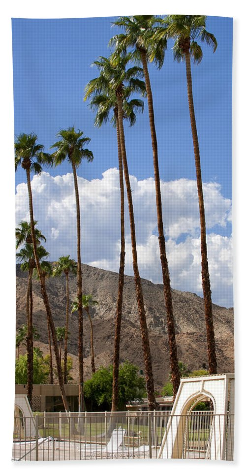 Cabanas Beach Towel featuring the photograph Cabanas Palm Springs by William Dey