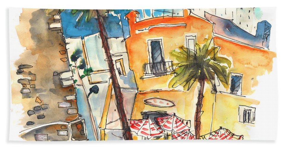 Travel Beach Towel featuring the painting Cadiz Spain 04 by Miki De Goodaboom