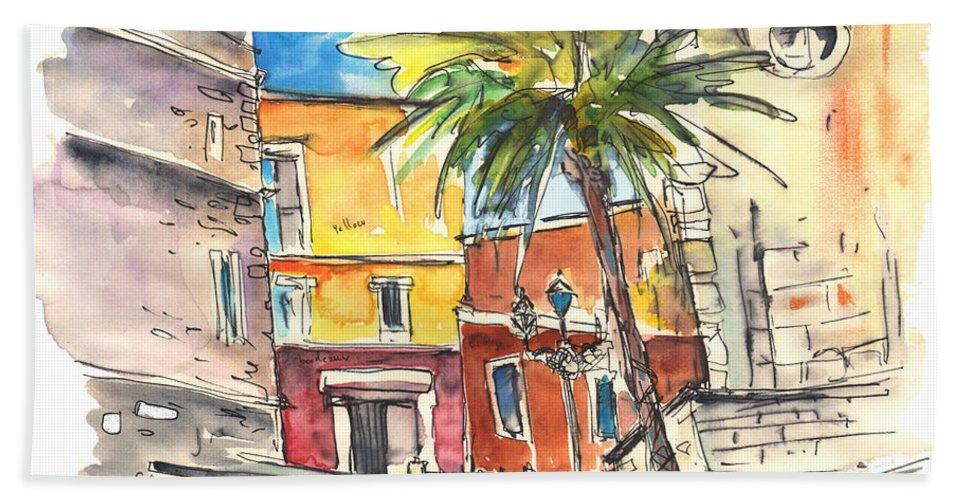 Travel Beach Sheet featuring the painting Cadiz Spain 05 by Miki De Goodaboom