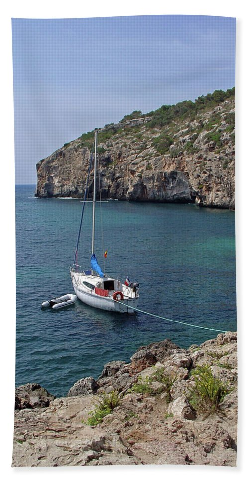 Europe Beach Towel featuring the photograph Cales Coves by Rod Johnson