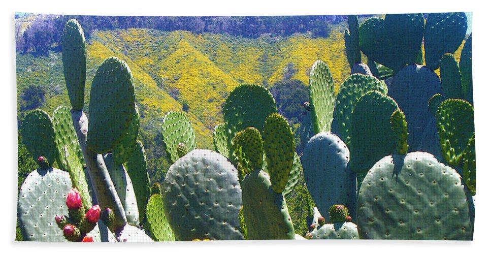 Big Sur Beach Towel featuring the photograph California Big Sur Flowers by Jerome Stumphauzer