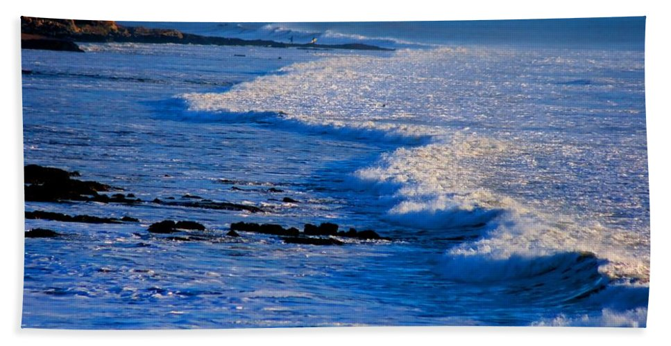 Surf Beach Towel featuring the photograph California Pismo Beach Waves by Tap On Photo