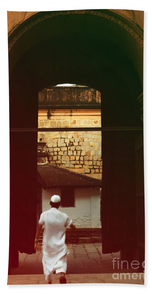 Muslim Boy Beach Towel featuring the photograph Call To Prayer by Mini Arora