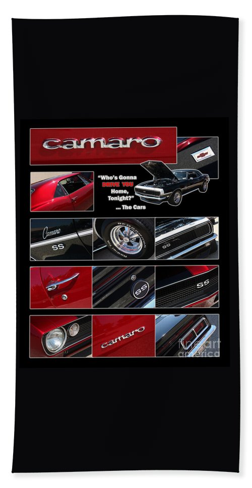 Camaro Beach Towel featuring the photograph Camaro-drive - Poster by Gary Gingrich Galleries