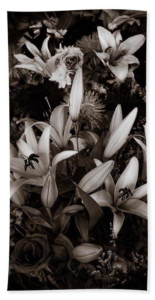 Arrangement Beach Towel featuring the photograph Cambodian Flower Arrangement by Mark Llewellyn
