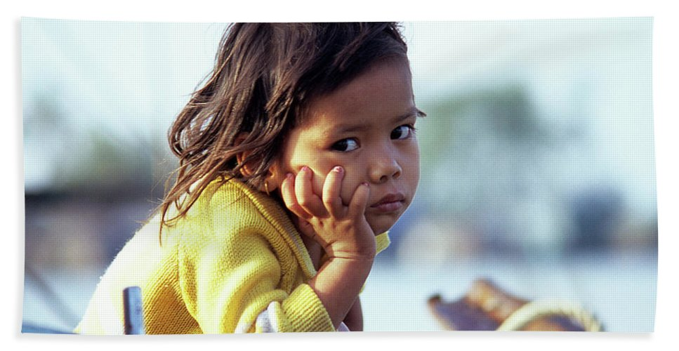 Cambodia Beach Towel featuring the photograph Cambodian Girl 01 by Rick Piper Photography
