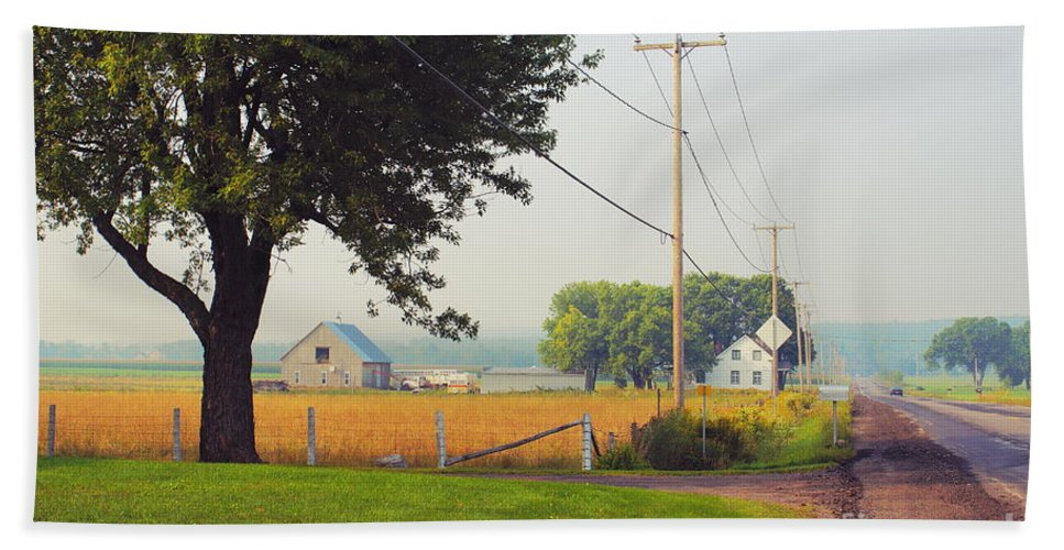 Scenere Beach Towel featuring the photograph Canada Rural Scene by Aimelle
