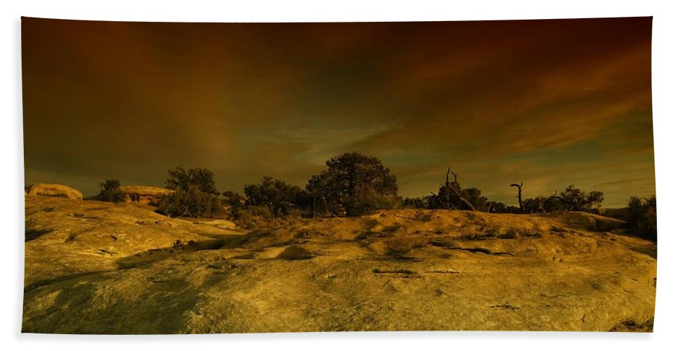 Rocks Beach Towel featuring the photograph Canyon Land Utah by Jeff Swan