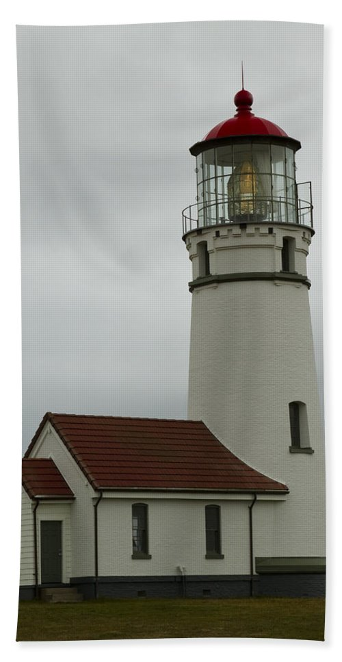 Oregon Beach Towel featuring the photograph Cape Blanco Lighthouse 1 B by John Brueske