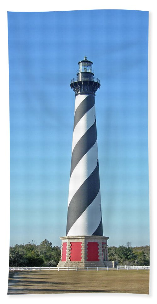 Lighthouse Beach Towel featuring the photograph Cape Hatteras Lighthouse - Outer Banks Nc by Mother Nature