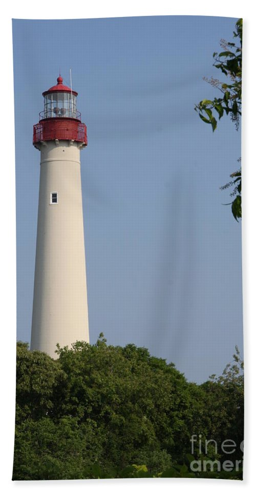 Lighthouse Beach Towel featuring the photograph Cape May Light by Christiane Schulze Art And Photography