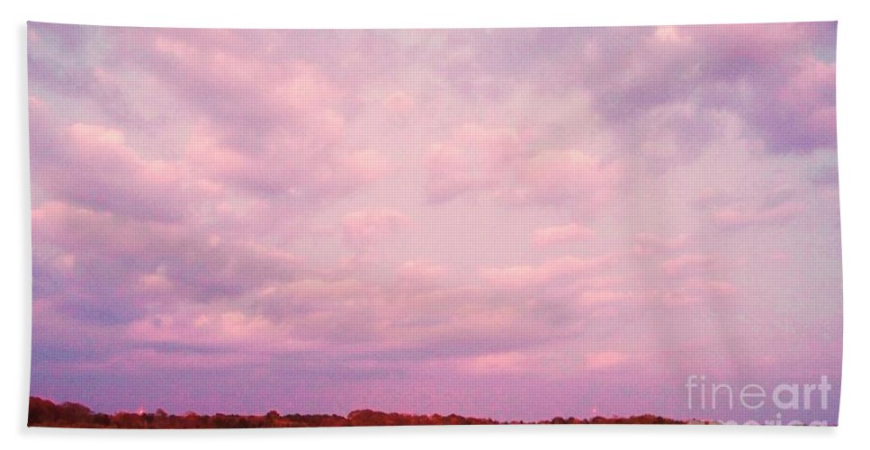 Cape May Beach Towel featuring the painting Cape May Point by Eric Schiabor