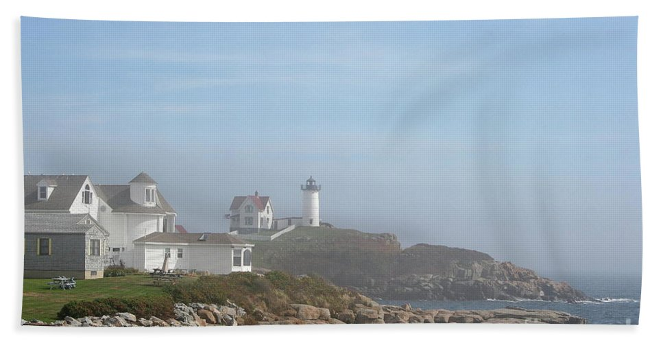 Lighthouse Beach Towel featuring the photograph Cape Neddick Lighthouse IIi by Christiane Schulze Art And Photography