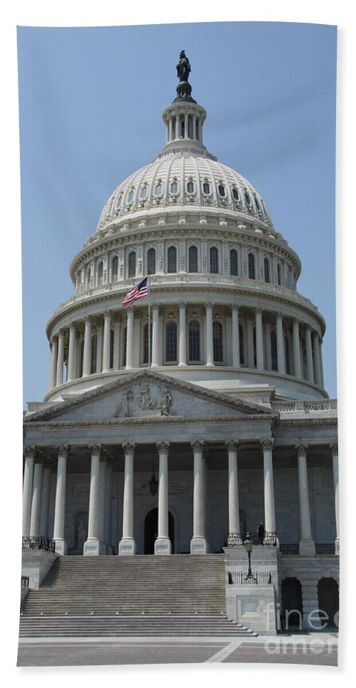 Cupola Beach Towel featuring the photograph Capitol Washington Dc by Christiane Schulze Art And Photography