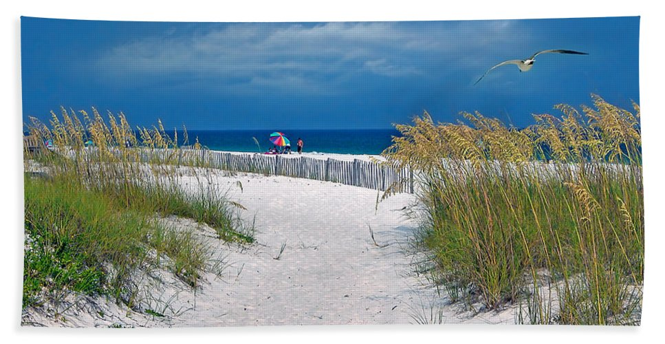 Sand Dune Beach Towel featuring the photograph Carefree Days By The Sea by Marie Hicks