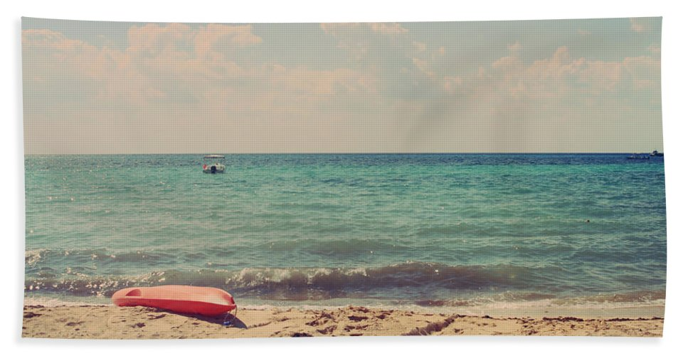 Cozumel Beach Towel featuring the photograph Carefree by Laurie Search