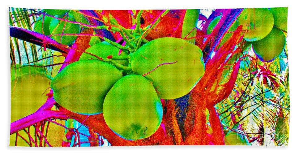 Kerisart Beach Towel featuring the photograph Carmen's Coconuts by Keri West