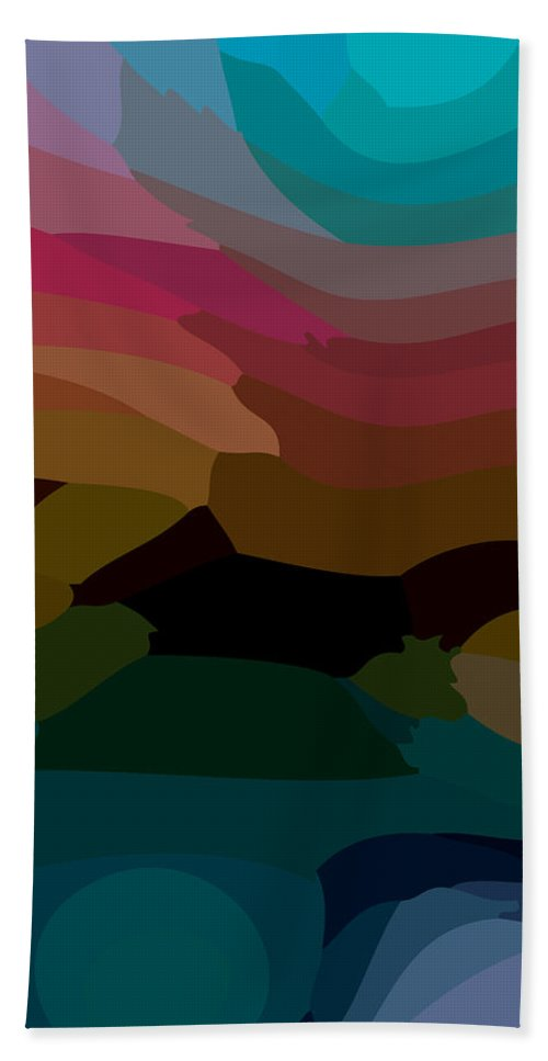 Abstract Beach Sheet featuring the digital art Carribbean Dusk by James Kramer