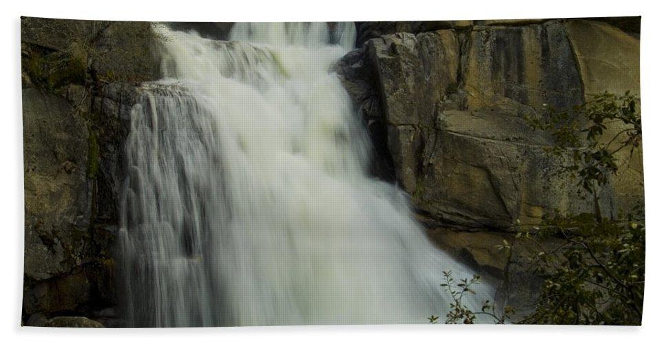 Cascade Creek Beach Towel featuring the photograph Cascade Creek Under The Bridge by Bill Gallagher