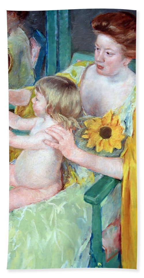 Mother And Child Beach Towel featuring the photograph Cassatt's Mother And Child by Cora Wandel