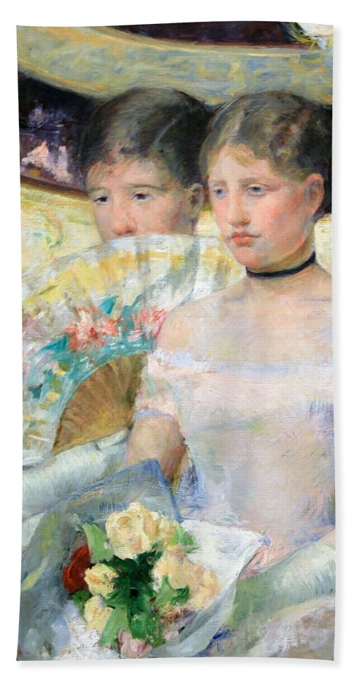 The Loge Beach Towel featuring the photograph Cassatt's The Loge by Cora Wandel