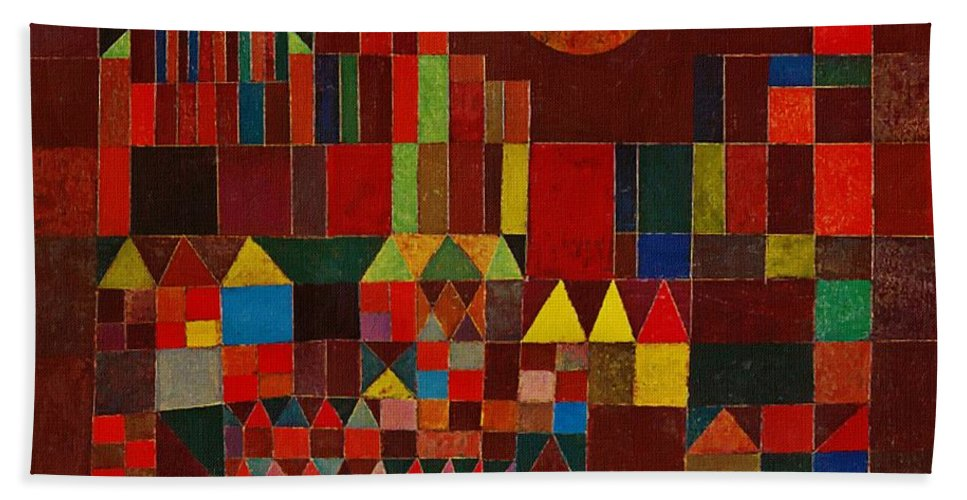 Castle And Sun Beach Sheet For Sale By Paul Klee