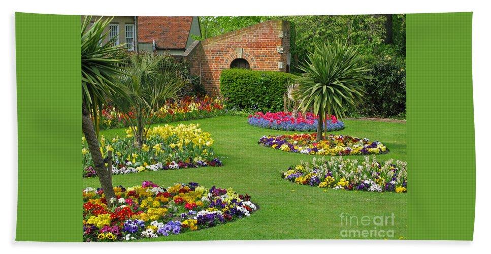 Garden Beach Sheet featuring the photograph Castle Park Gardens by Ann Horn