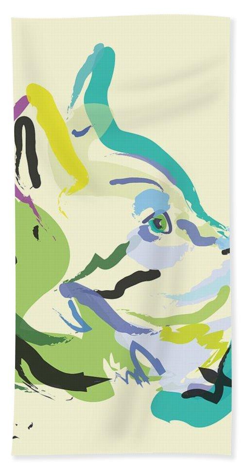 Pet Beach Towel featuring the painting Cat Lisa by Go Van Kampen
