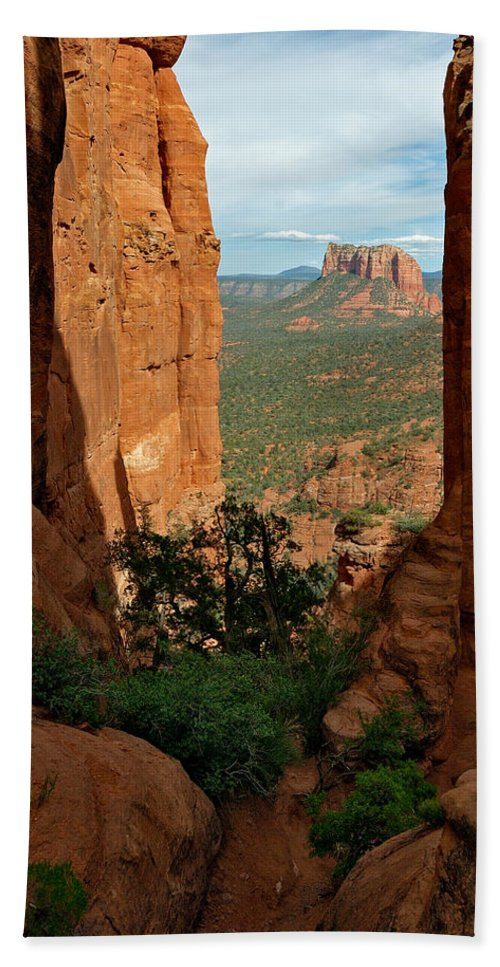Photo Beach Towel featuring the photograph Cathedral Rock 05-012 by Scott McAllister