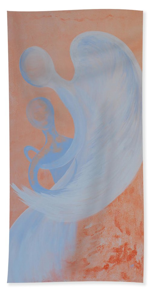 Caught Beach Towel featuring the painting Caught by Catt Kyriacou