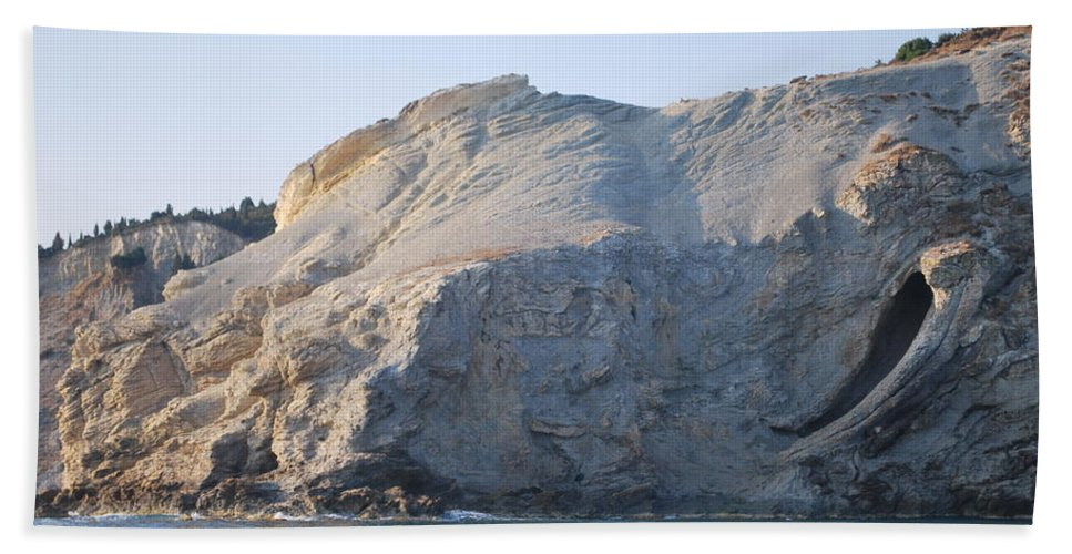 Cave Beach Towel featuring the photograph Cave by George Katechis