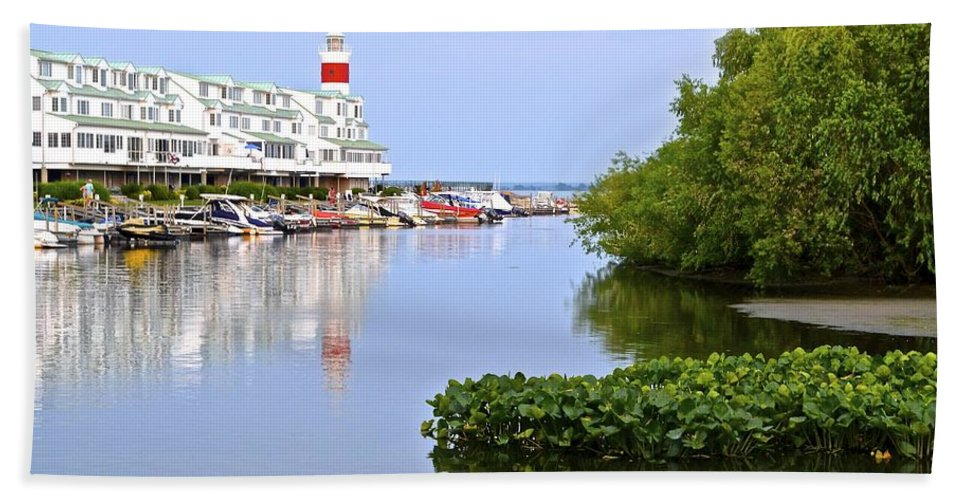 Cedar Beach Towel featuring the photograph Cedar Point Ohio by Frozen in Time Fine Art Photography
