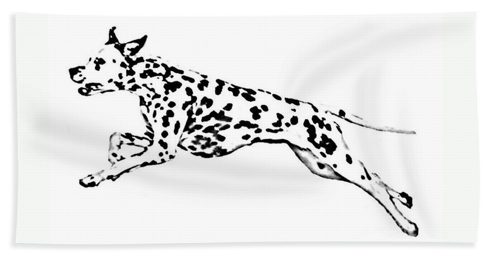 Dogs Beach Towel featuring the drawing Celebrate by Jacki McGovern