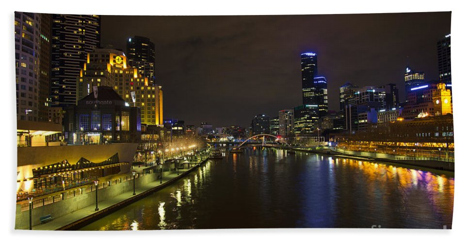 Architecture Beach Towel featuring the photograph Central Melbourne Skyline In Australia by Jacek Malipan