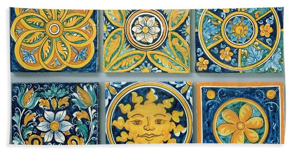 Ceramic Tiles In The Typical Caltagirone Style Ceramic Beach Sheet