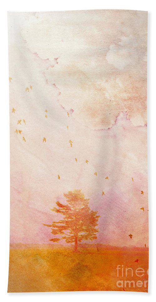 Tree Beach Towel featuring the photograph Chaleur Estivale by Aimelle