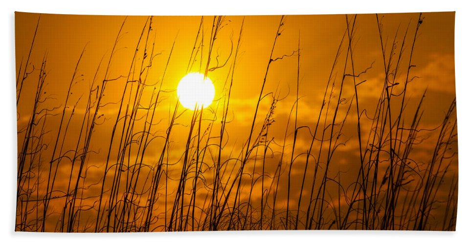 Charleston Beach Towel featuring the photograph Charleston Beach Sunrise by Chris Austin