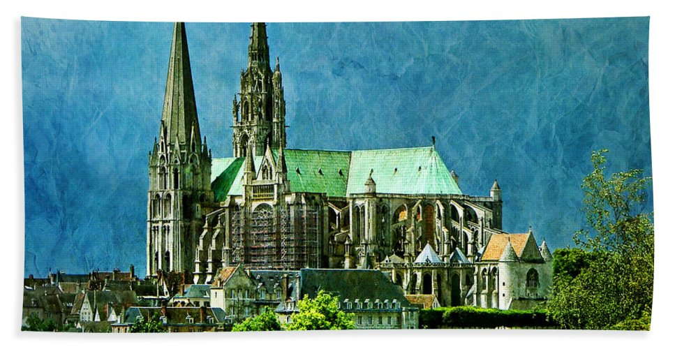 Cathedral Beach Towel featuring the photograph Chartres Cathedral by Nikolyn McDonald