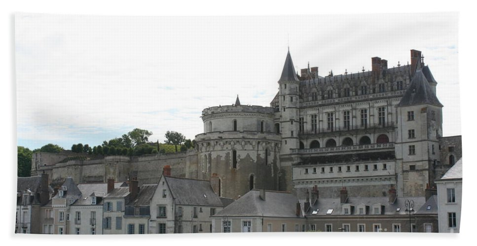 Palace Beach Towel featuring the photograph Chateau Ambois Rises Above Its Town by Christiane Schulze Art And Photography