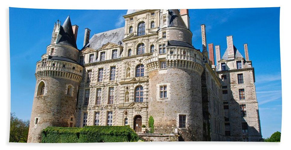 Chateau Beach Towel featuring the photograph Chateau Brissac by Eric Tressler