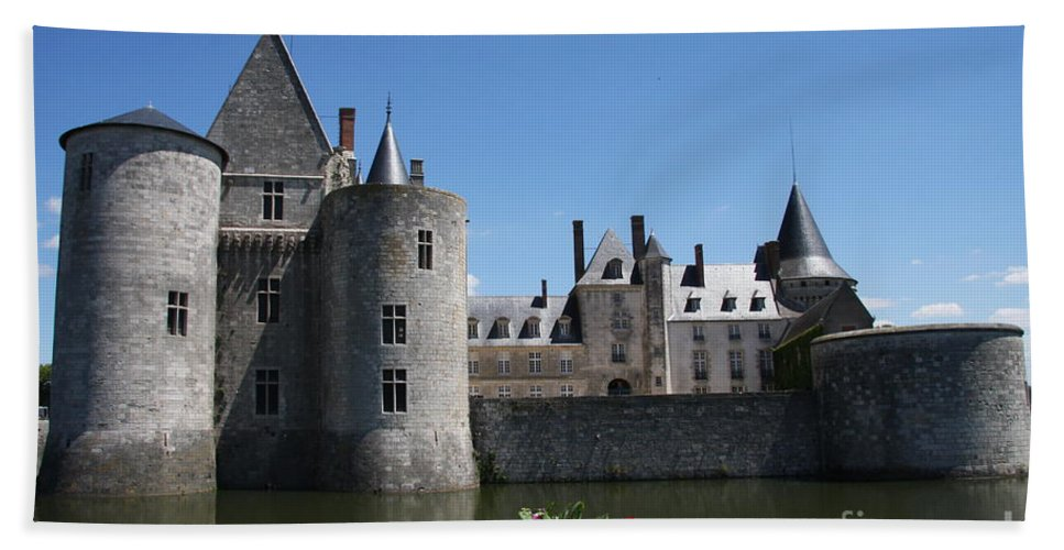 Castle Beach Towel featuring the photograph Chateau De Sully-sur-loire View by Christiane Schulze Art And Photography