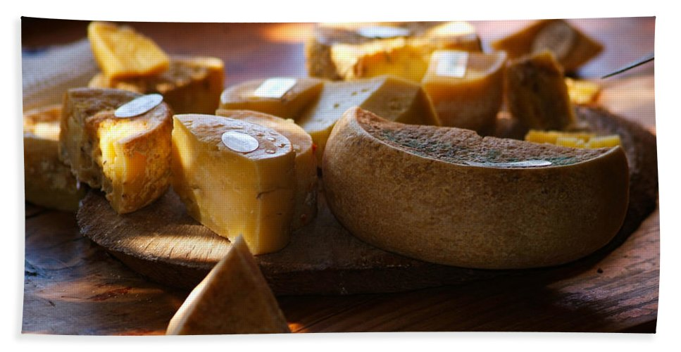 Cheese Beach Towel featuring the photograph Cheese Selection by Tracey Beer