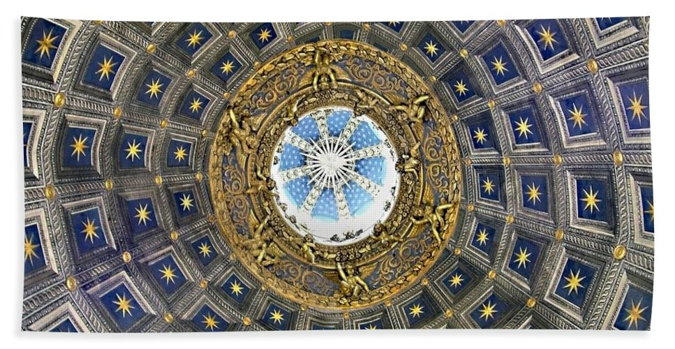 Cherubic Cupola Beach Towel featuring the photograph Cherubic Cupola by Ellen Henneke