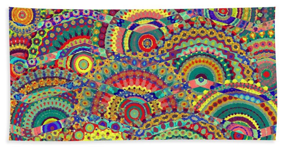 Chevron Beach Towel featuring the digital art Chevron In A Circle Field by Cassie Peters